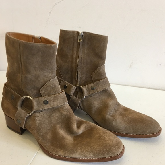 6287a9b2d351f Saint Laurent Wyatt 40 boots NEVER BEEN WORN